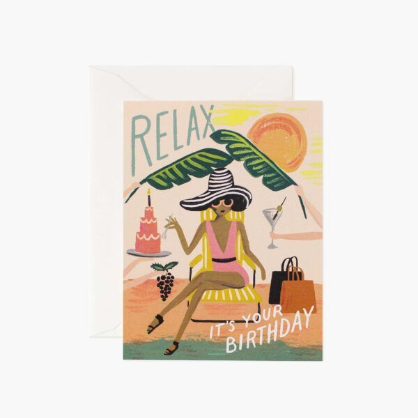 "Rifle Paper Co. ""Relax Birthday"" Greeting Card"