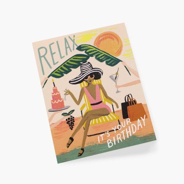 """Rifle Paper Co. """"Relax Birthday"""" Greeting Card"""