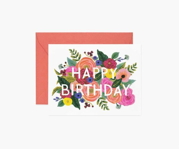 "Rifle Paper Co. ""Juliet Rose Birthday"" Greeting Card"