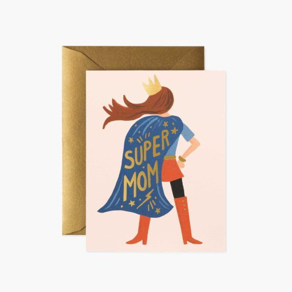 "Rifle Paper Co. ""Super Mom"" Greeting Card"