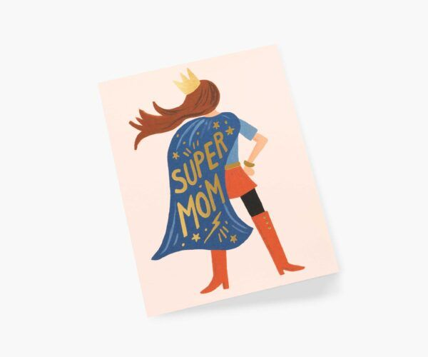 """Rifle Paper Co. """"Super Mom"""" Greeting Card"""