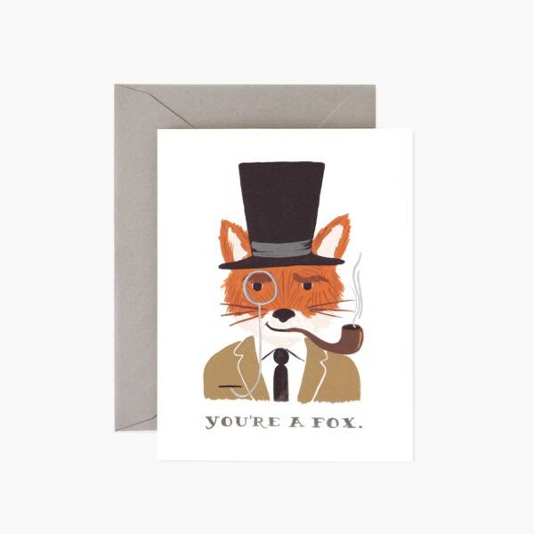 "Rifle Paper Co. ""You're A Fox"" Greeting Card"