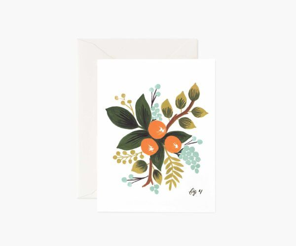 "Rifle Paper Co. ""Clementine Floral"" Greeting Card"
