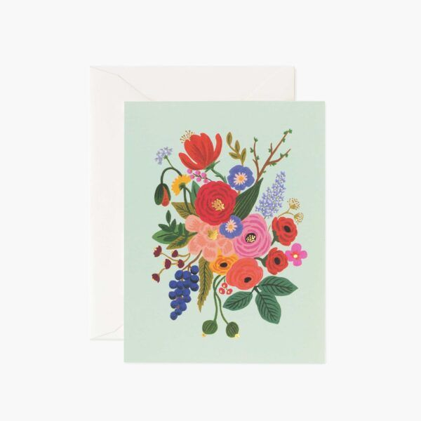 "Rifle Paper Co. ""Garden Party Mint"" Greeting Card"