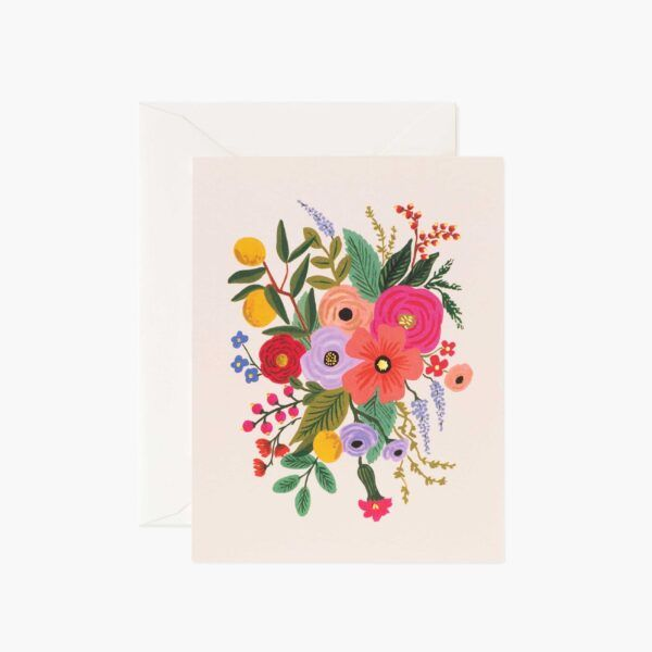 "Rifle Paper Co. ""Garden Party Blush"" Greeting Card"