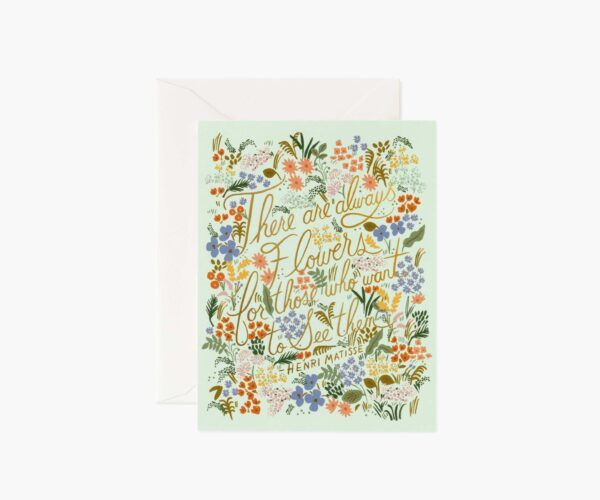 "Rifle Paper Co. ""Matisse Quote"" Greeting Card"