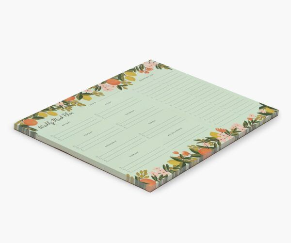"""Rifle Paper Co. """"Citrus Floral"""" Weekly Meal Planner"""