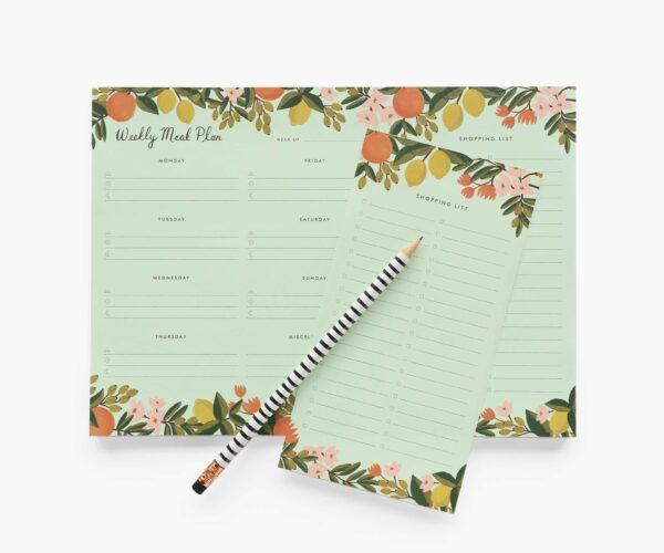 "Rifle Paper Co. ""Citrus Floral"" Weekly Meal Planner"