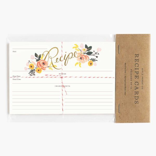"Rifle Paper Co. ""Peony"" Recipe Card Set of 12"
