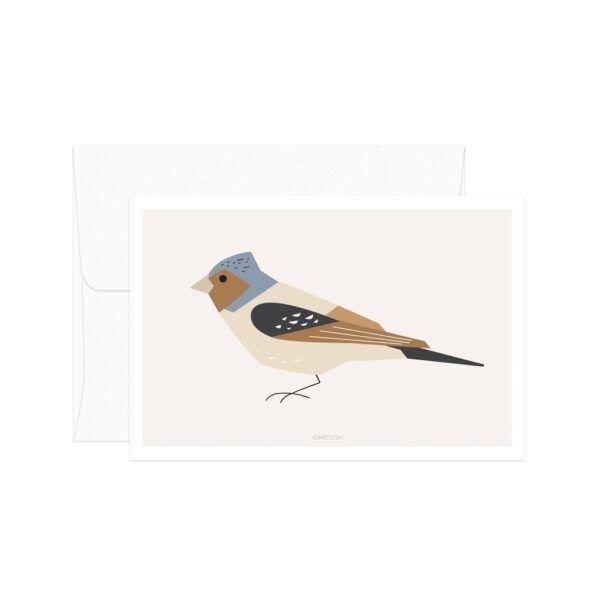 Fringilla Coelebs Bird Card