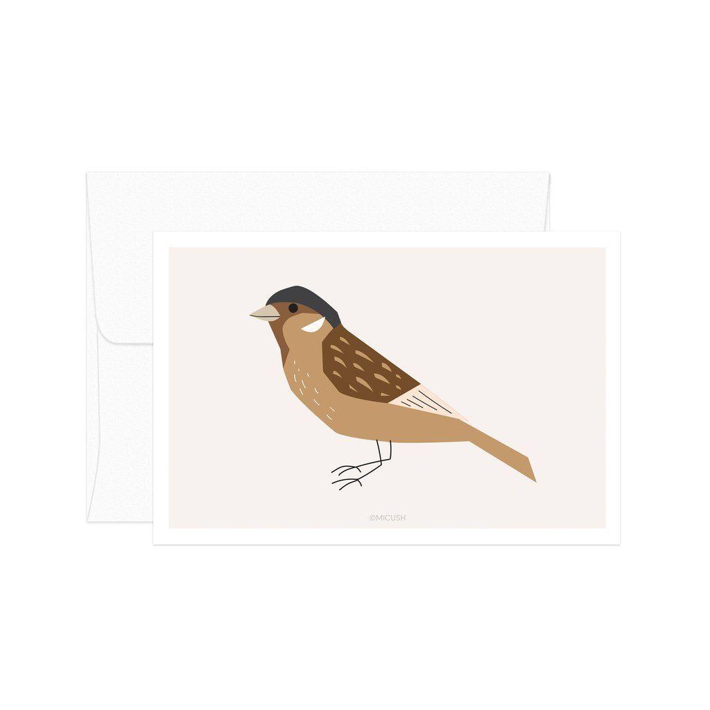 Sparrow Bird Card