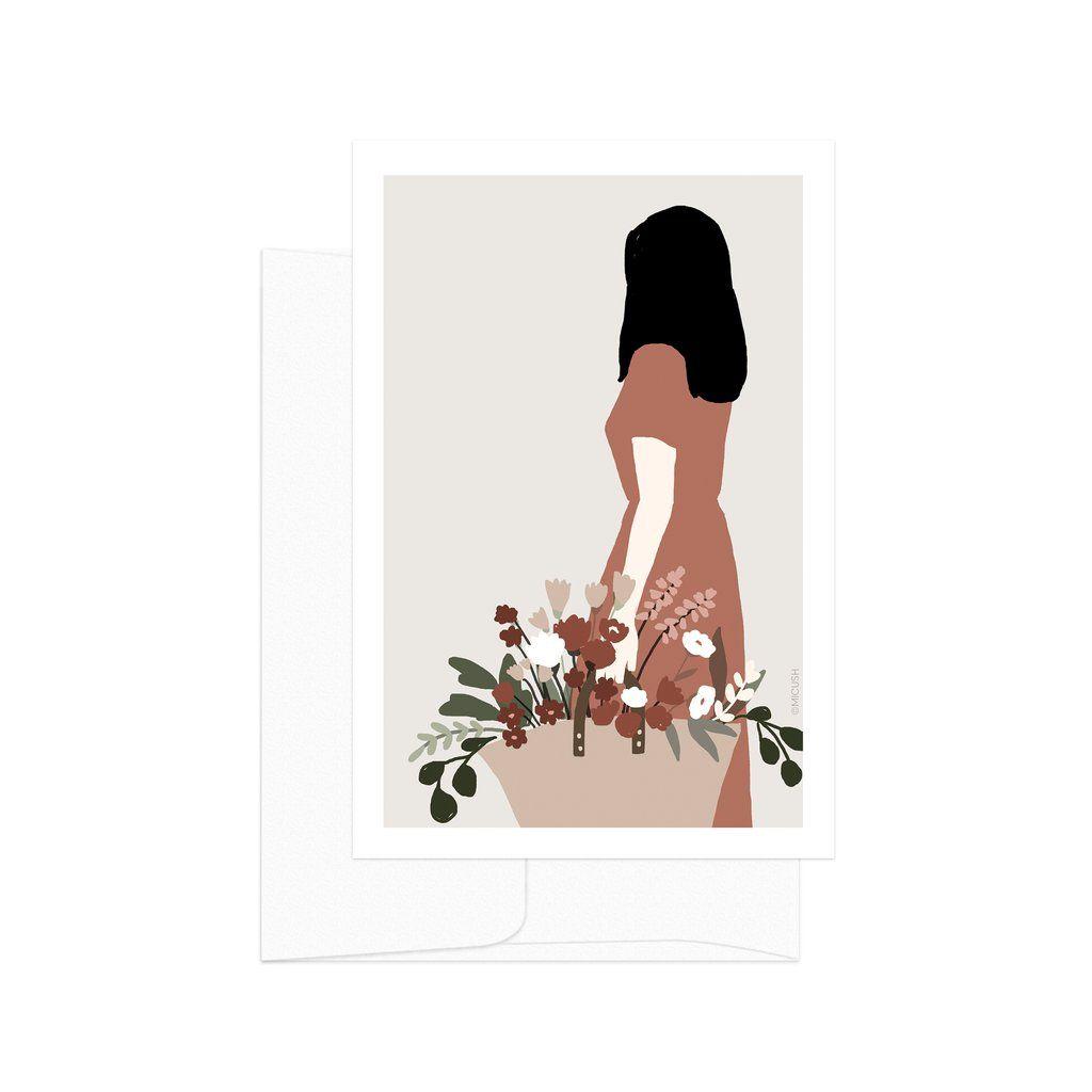 Flower Lady Basket Card