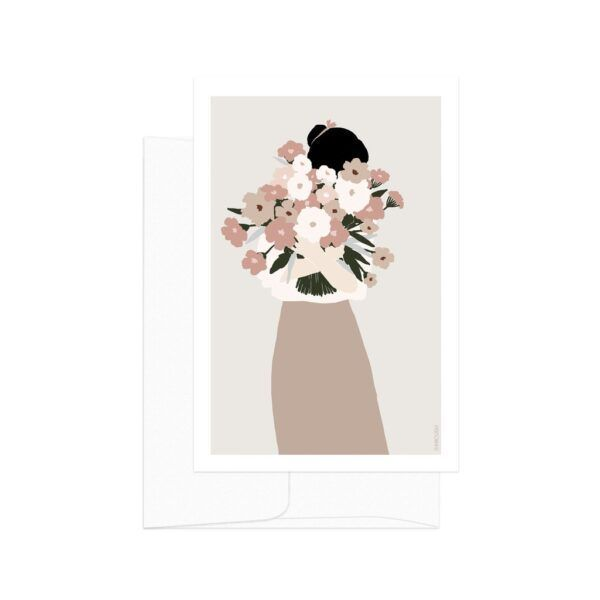 Flower Lady Bouquet Card