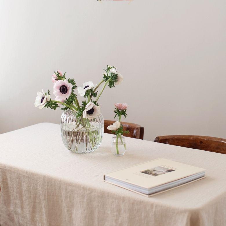 Cream Linen Tablecloth