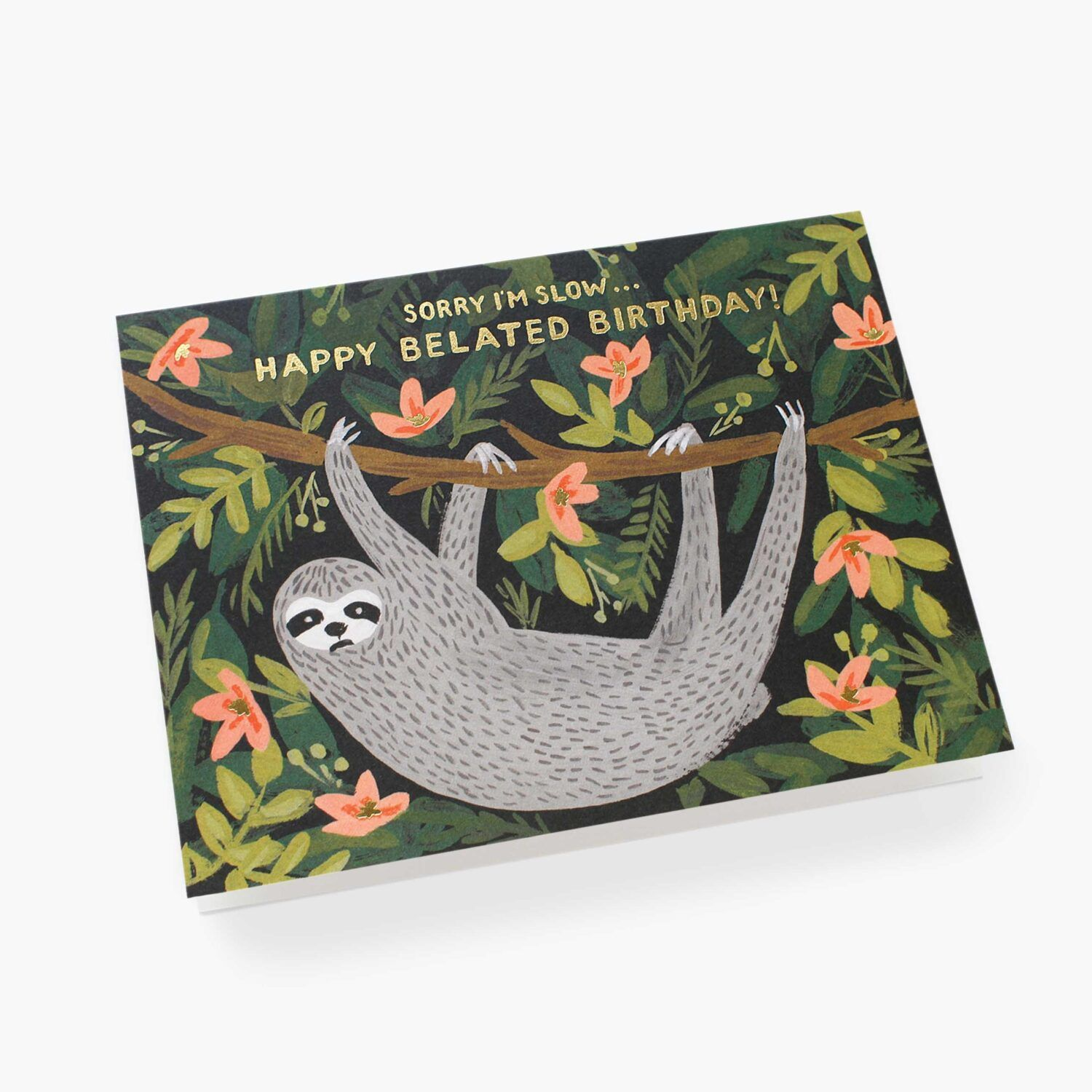 "Rifle Paper Co. ""Sloth Belated Birthday"" Greeting Card"