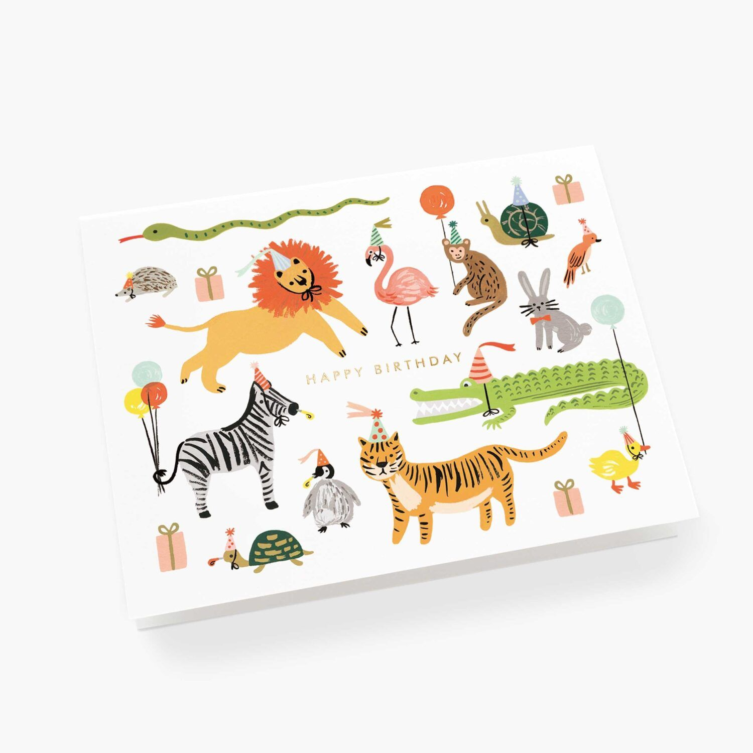 "Rifle Paper Co. ""Party Animals"" Greeting Card"