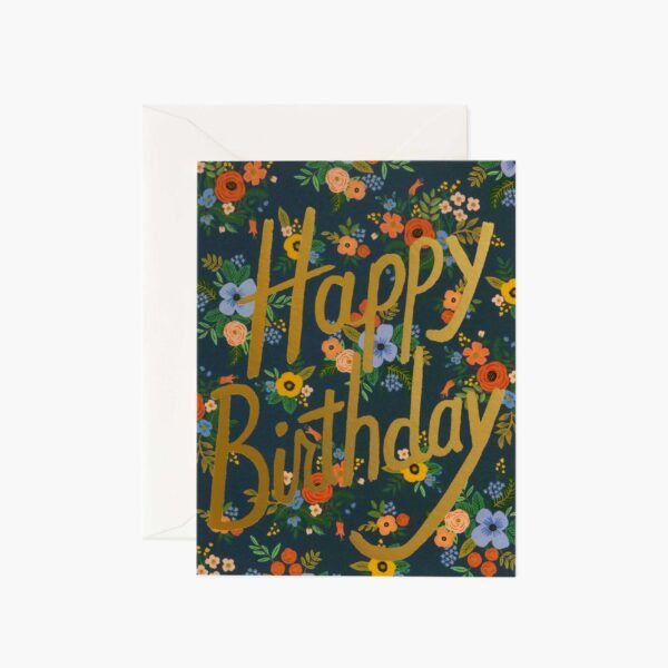 "Rifle Paper Co. ""Garden Birthday"" Greeting Card"