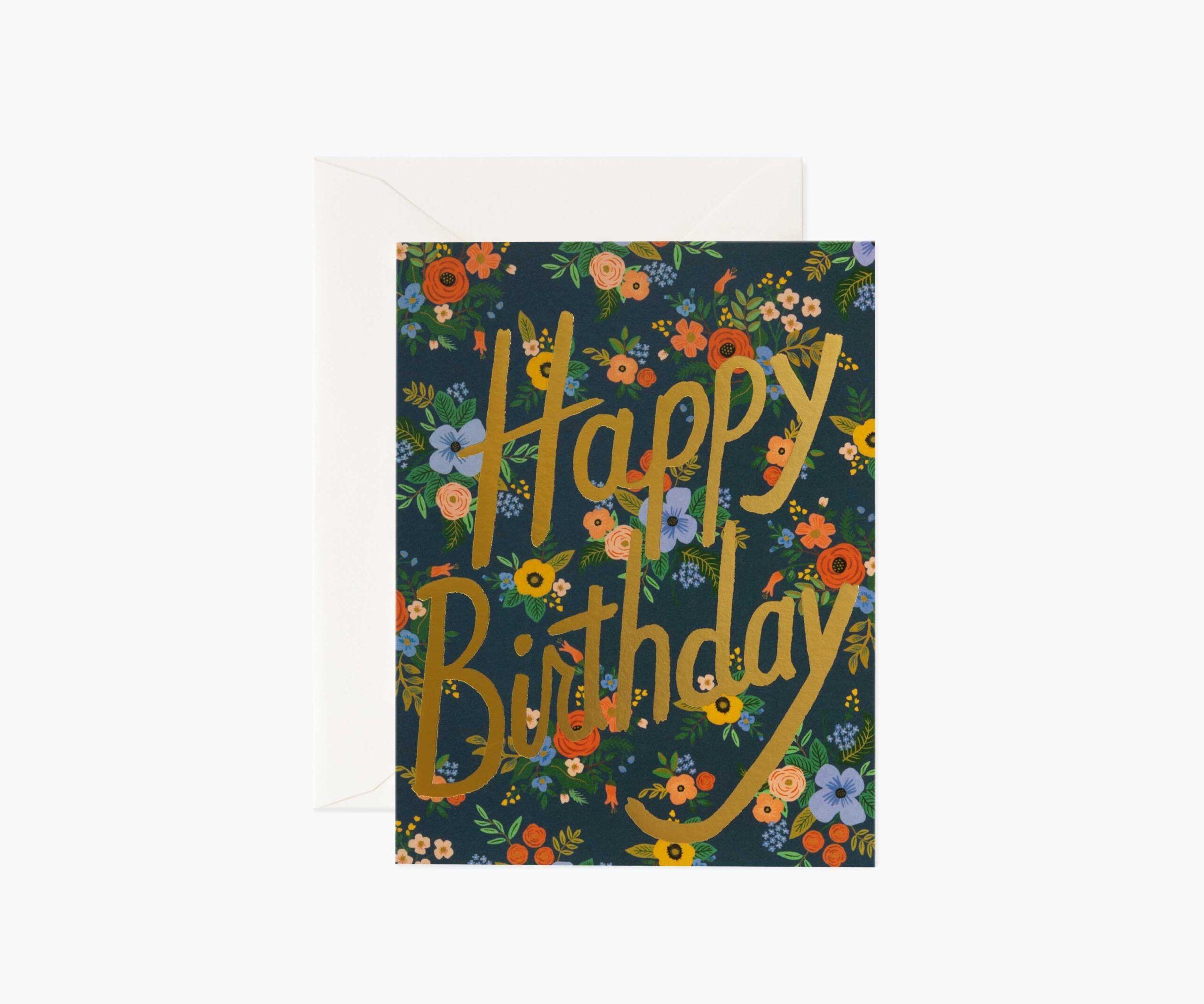 "rifle paper co ""garden birthday"" greeting card  home  fleur"
