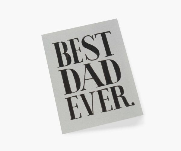 """Rifle Paper Co. """"Best Dad Ever"""" Greeting Card"""