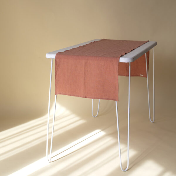Terracotta Linen Table Runner