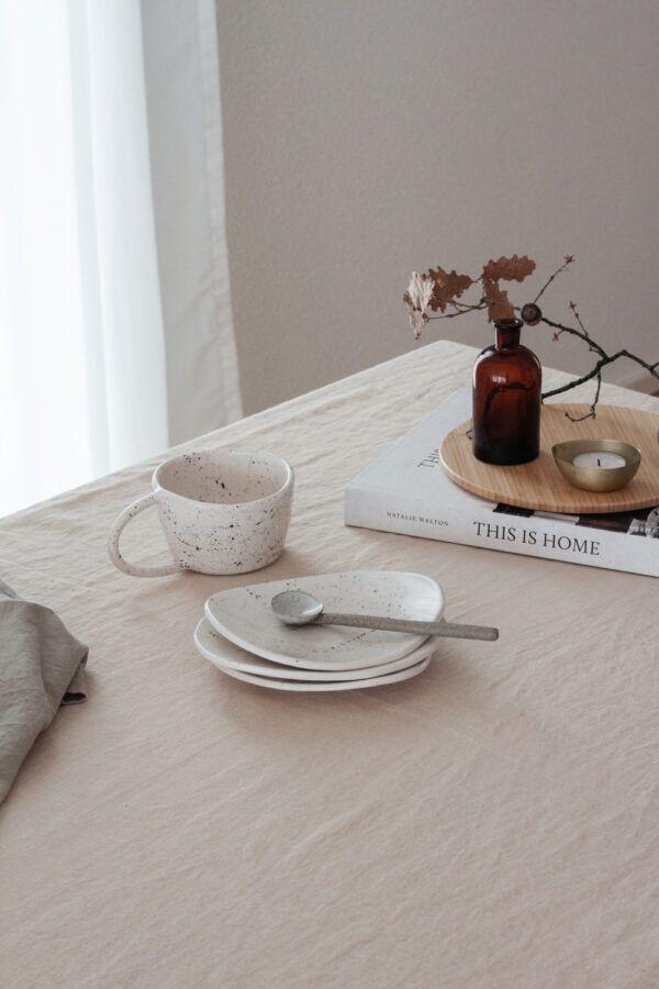 Terra Handmade Ceramic Mug - Speckled White