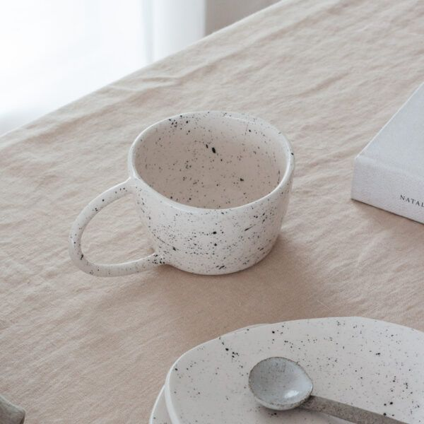 Terra Handmade Ceramic Mug - Speckled White