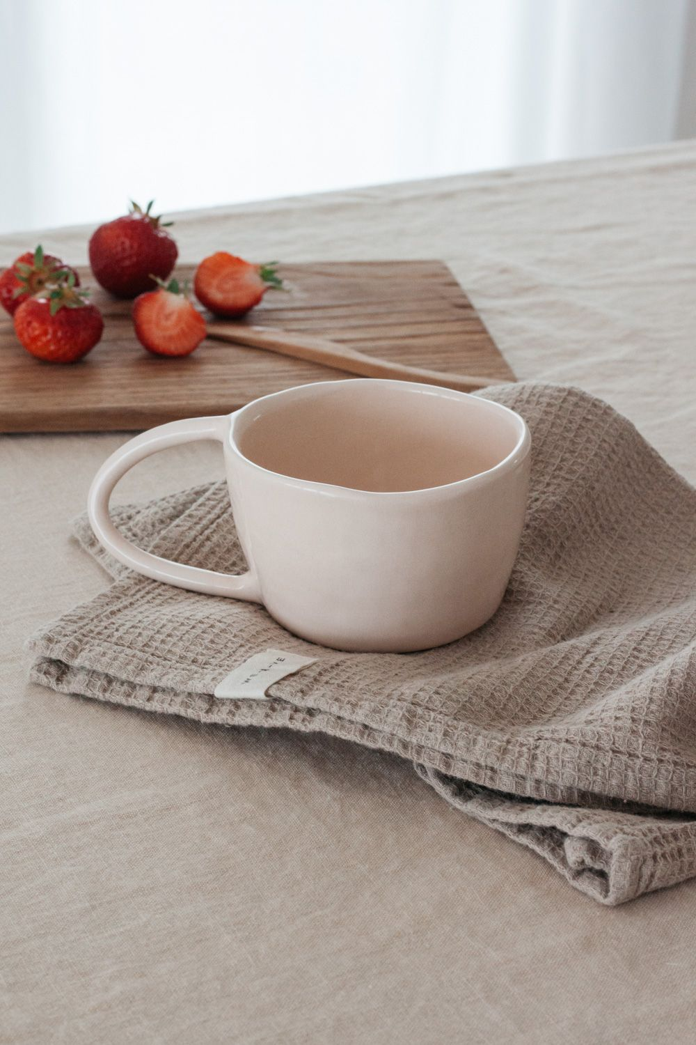 Terra Handmade Ceramic Mug - Light Blush