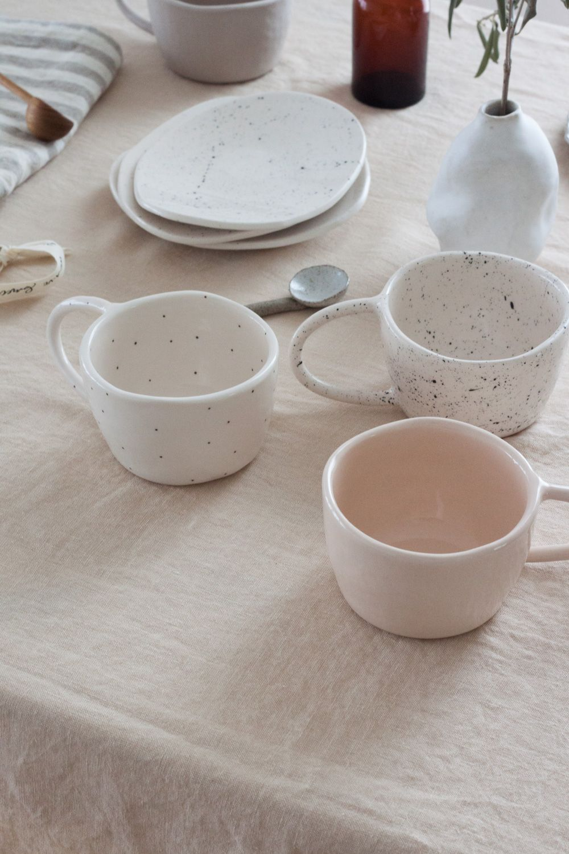 Terra Handmade Ceramic Mug - Light Blush