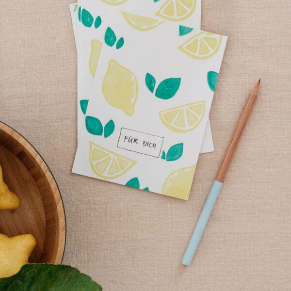 """Für Dich"" Lemons Postcard"