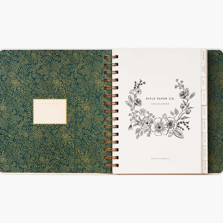 """Rifle Paper Co. 2021 """"Wild Garden"""" 17-Month Planner"""