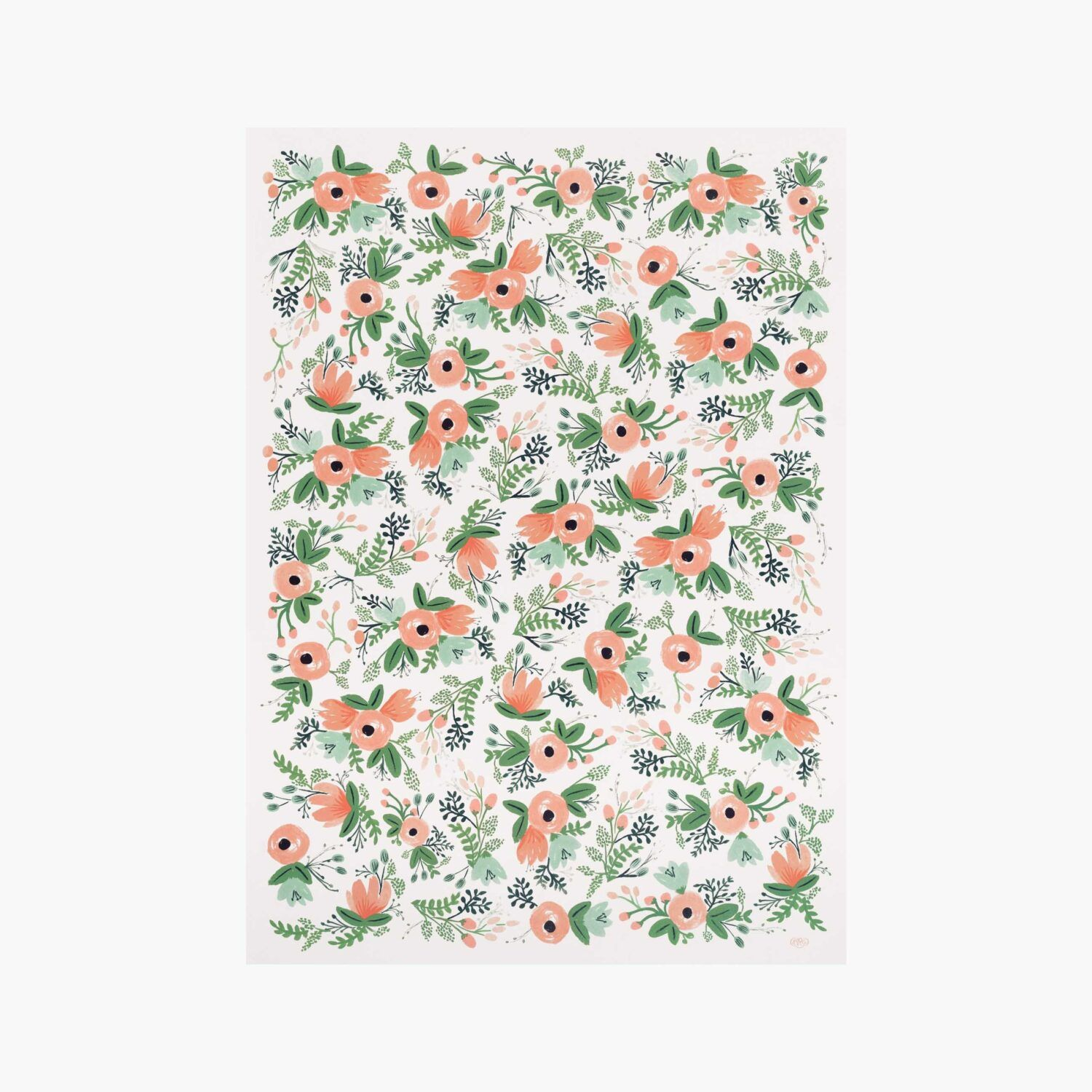 """Rifle Paper Co. """"Wildflower"""" Wrapping Paper Set of 2"""