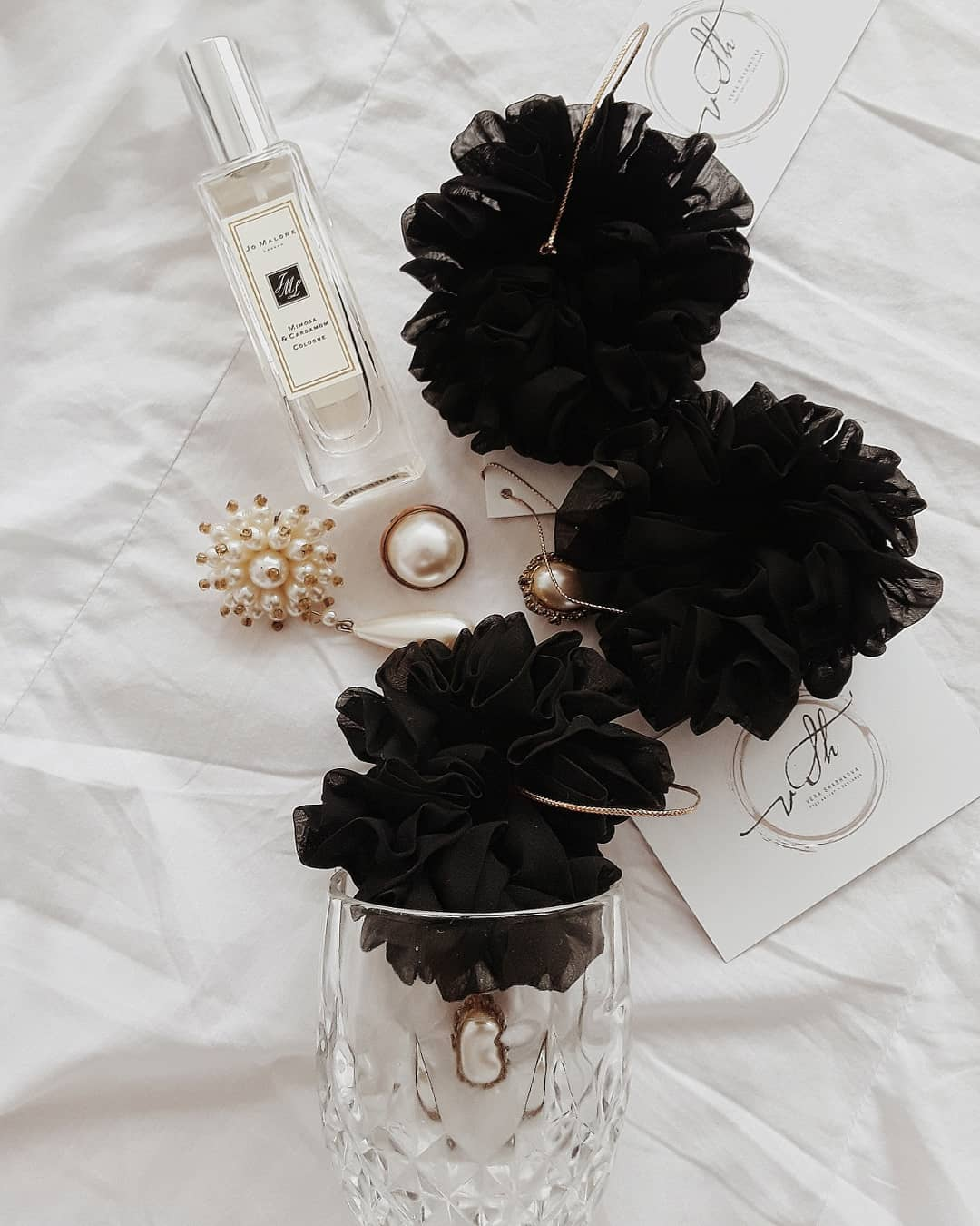 Silk Hair Scrunchie - Black