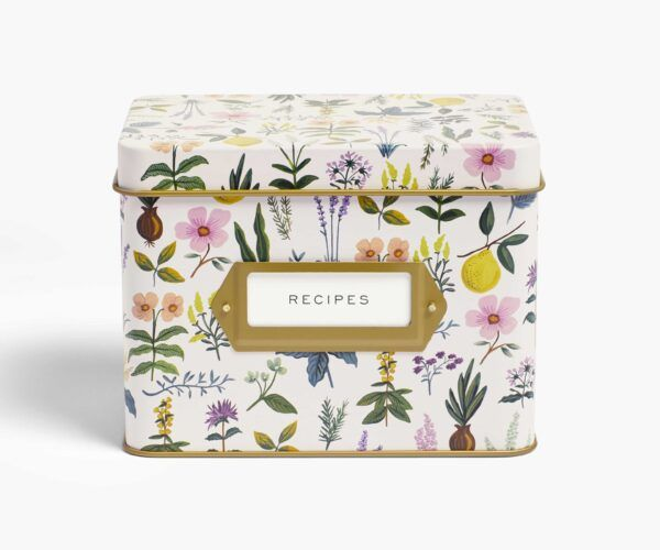 "Rifle Paper Co. ""Herb Garden"" Tin Recipe Box"