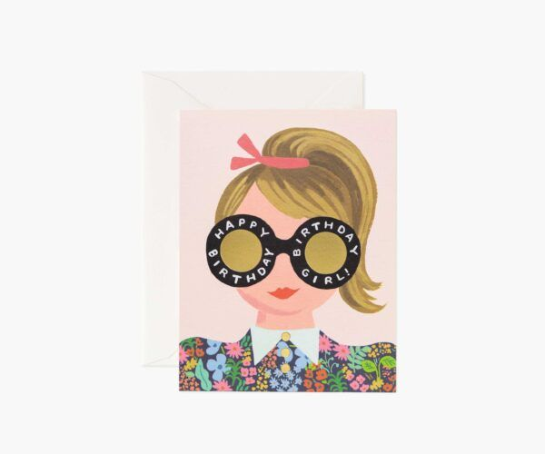 "Rifle Paper Co. ""Meadow Birthday Girl"" Greeting Card"