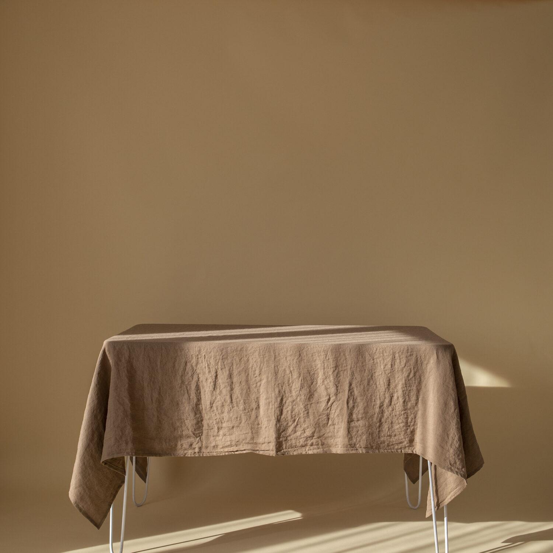 Walnut Linen Tablecloth
