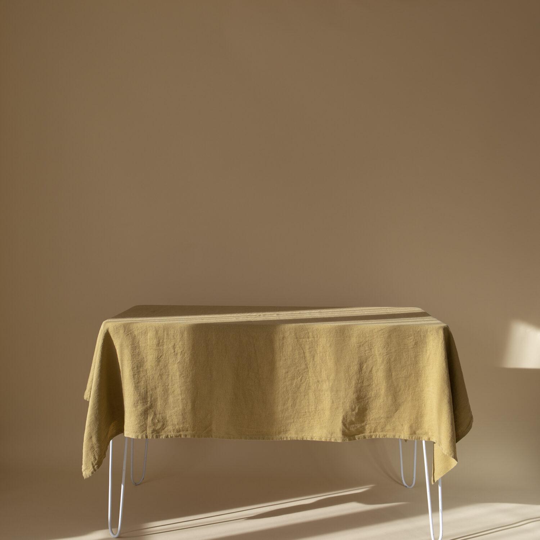 Mustard Linen Tablecloth