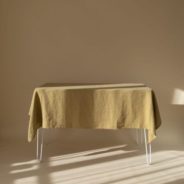 Mustard Linen Tablecloth