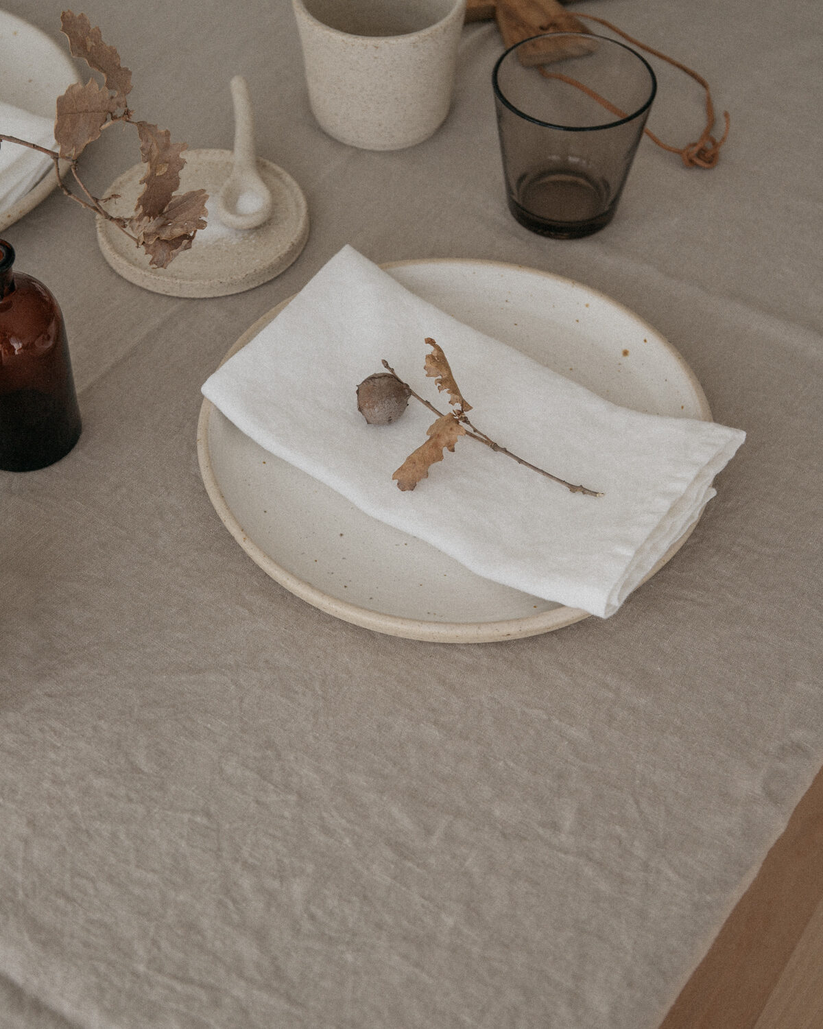 Handmade Ceramic Whitewashed Plate