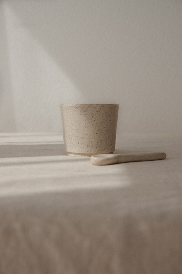 Handmade Ceramic Speckled Cup