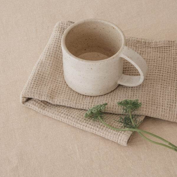 Handmade Ceramic Whitewashed Mug