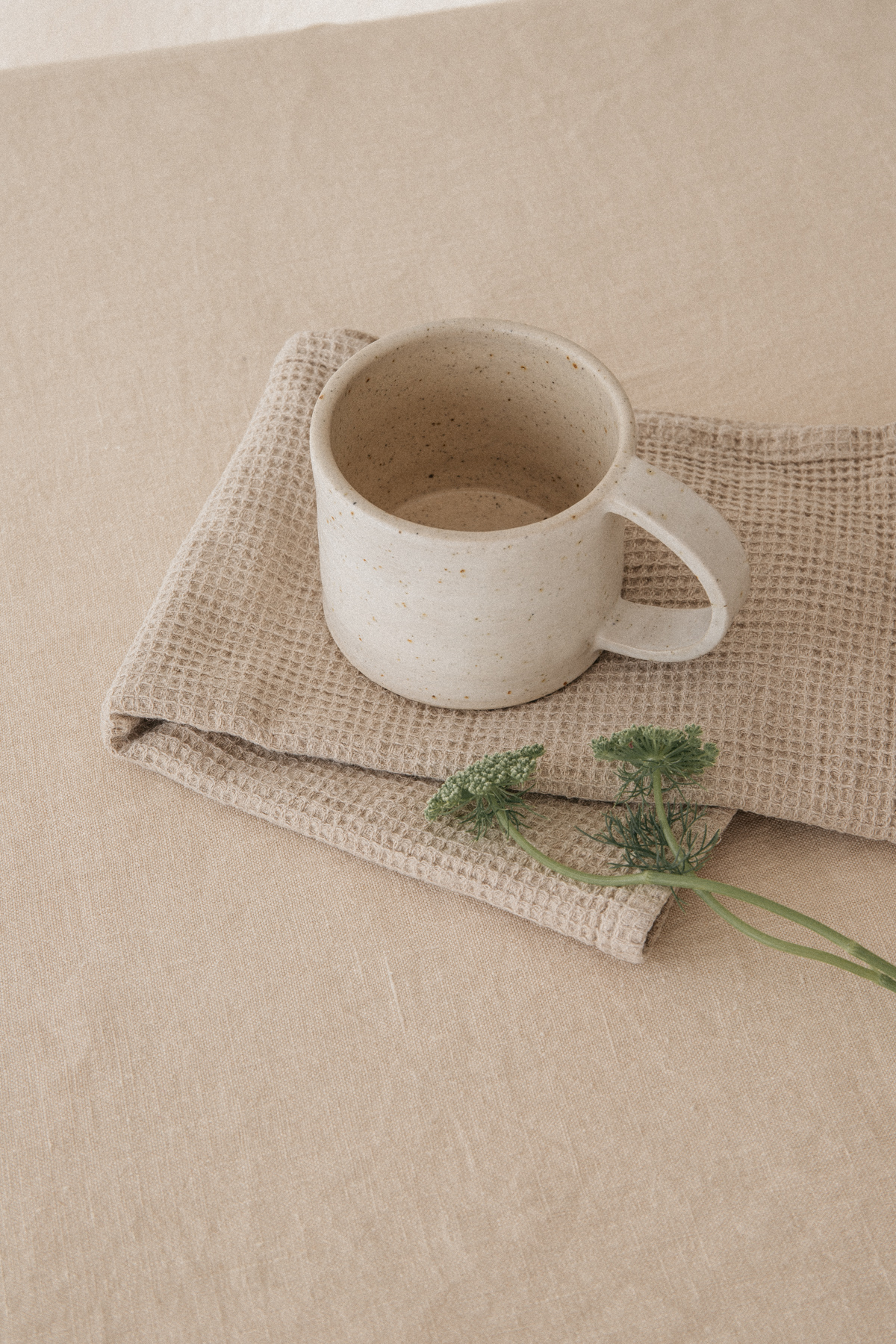 Handmade Ceramic Whitewashed Mug