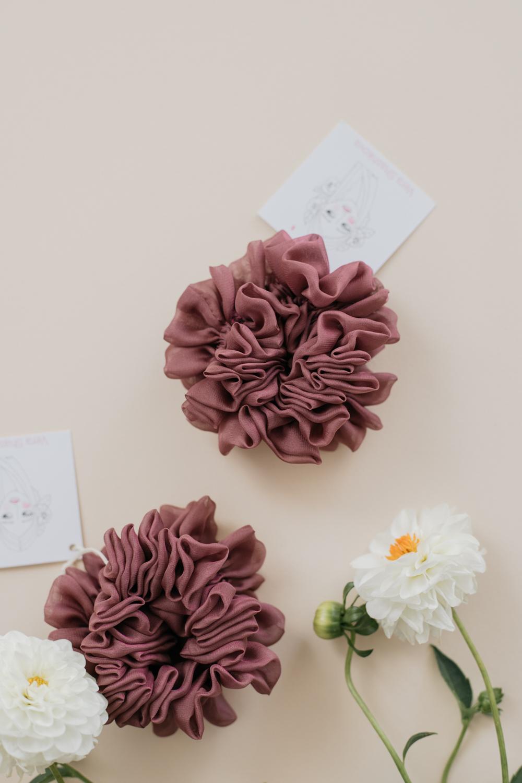 Silk Hair Scrunchie - Grapes