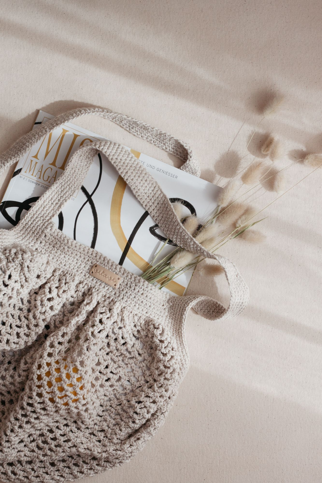 Crochet Net Bag - Cream