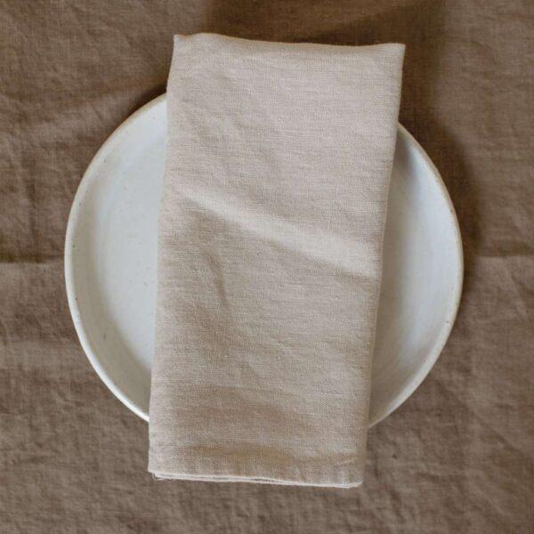 Cream Linen Napkin