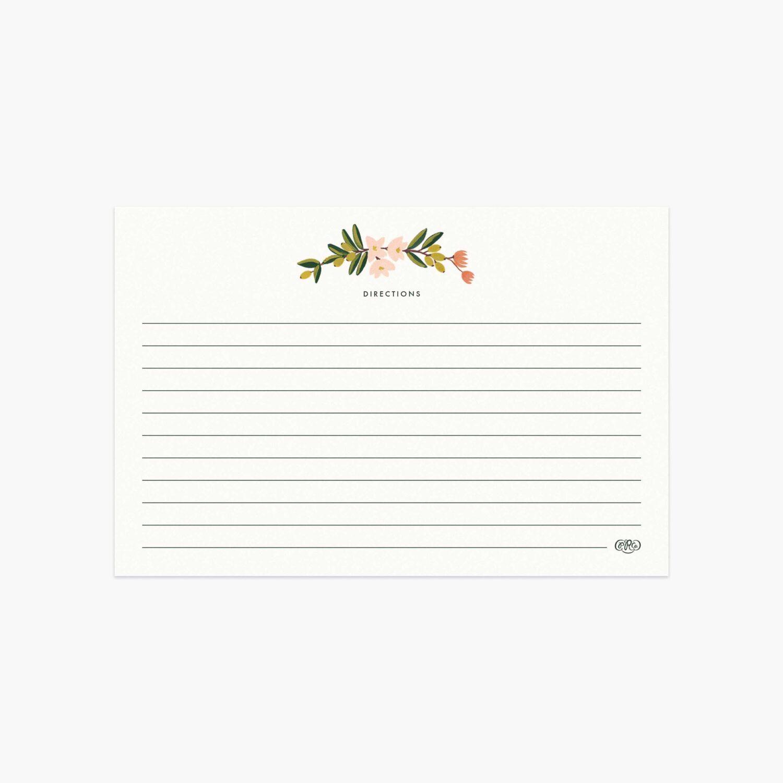 "Rifle Paper Co. ""Citrus Floral"" Recipe Card Set of 12"