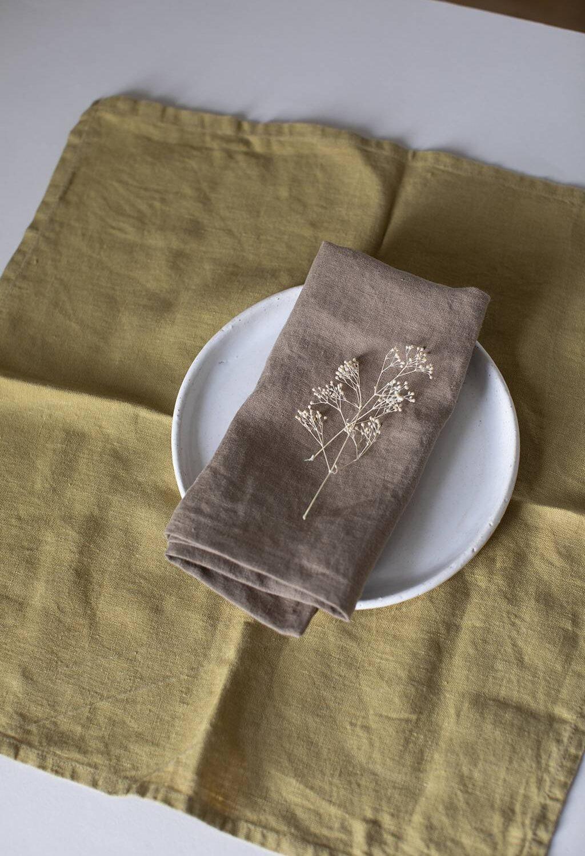 Walnut Linen Napkin