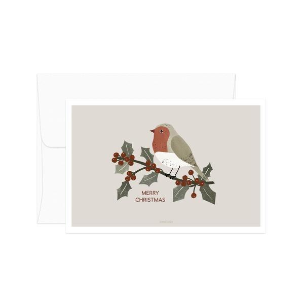 Robin Christmas Postcard
