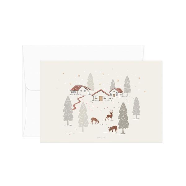 Deep In The Wood Christmas Postcard