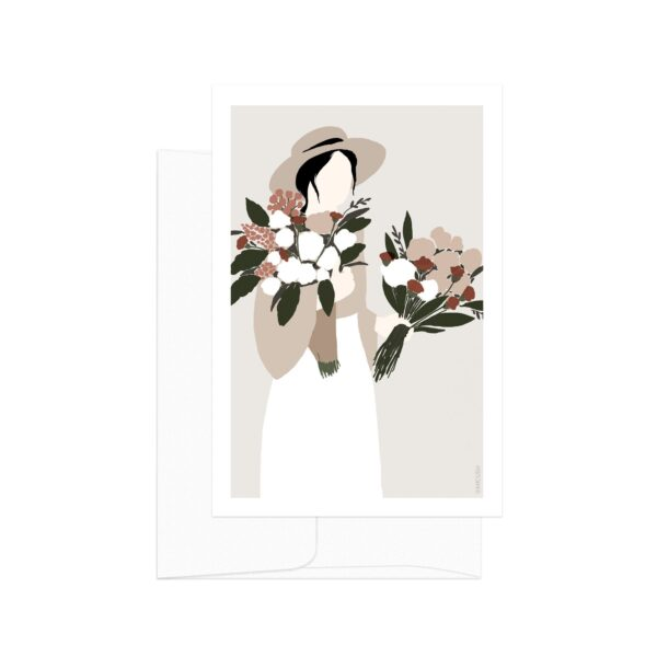 Flower Lady Hat Card
