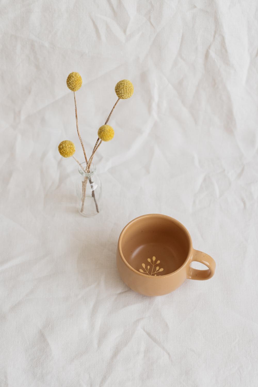 Marinski Handmade Ceramic Mug - Yellow Gold